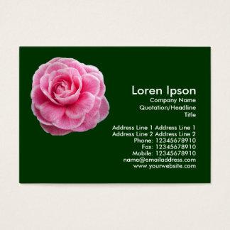Rosa Camelia 2 - dunkelgrün Visitenkarte