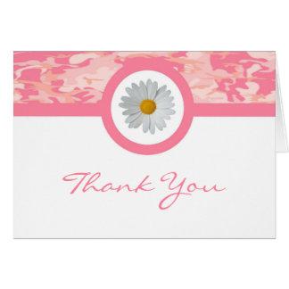 Rosa Camouflage danken Ihnen zu kardieren Karte