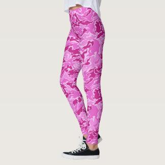Rosa Camouflage-Tarnungs-Muster Leggings