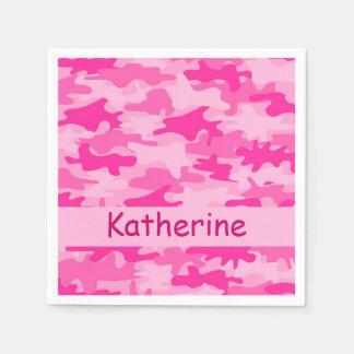 Rosa Camouflage-Tarnungs-personalisiertes Serviette