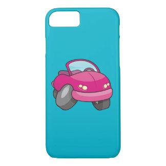 Rosa Cartoon-Auto iPhone 8/7 Hülle