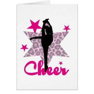 Rosa Cheerleader Mitteilungskarte
