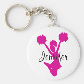 Rosa Cheerleader-Schlüsselkette Standard Runder Schlüsselanhänger
