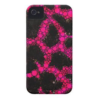 Rosa Cheetah-abstraktes Muster iPhone 4 Cover