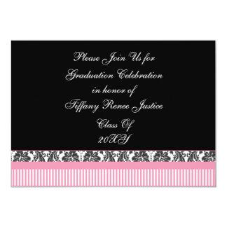 rosa Chic Abschluss-Party Einladung
