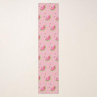 Rosa) Chiffon- Schal der Wassermelone des
