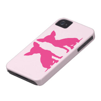 Rosa Chihuahuahundniedliches BlackBerry-mutige iPhone 4 Cover