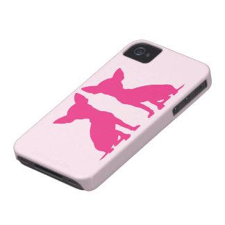 Rosa Chihuahuahundniedliches BlackBerry-mutige iPhone 4 Cover