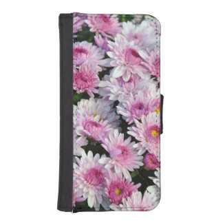 Rosa Chrysantheme-Blumen iphone Geldbörsenkasten iPhone SE/5/5s Geldbeutel