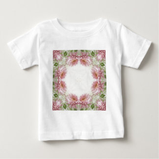 Rosa Chrysantheme-Kaleidoskop-Kunst 9 Baby T-shirt