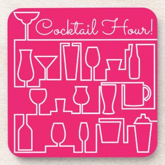 Rosa Cocktail-Party Untersetzer