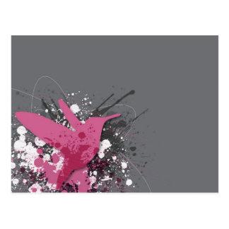 Rosa Colibri Postkarte