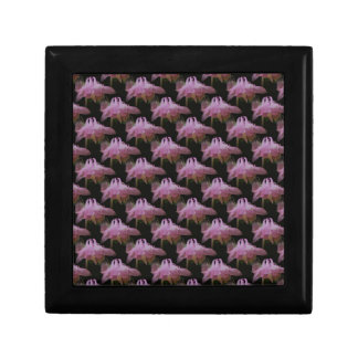 Rosa Columbineblumenkunst-Schmuckkästchen Geschenkbox
