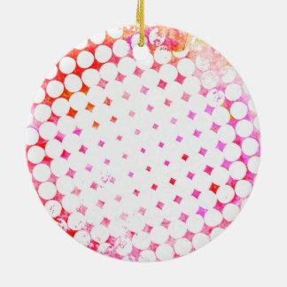 Rosa Comic-Buch-Sprengplan Keramik Ornament