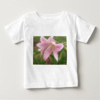Rosa Crinum Lilien 1 himmlisch Baby T-shirt
