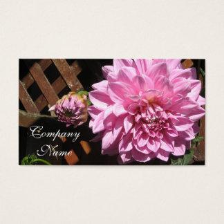 Rosa Dahlie-Blume Visitenkarte