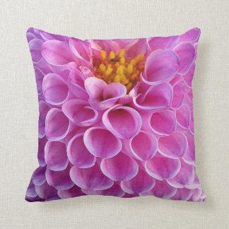 Rosa Dahlie-Blumen-Foto Kissen