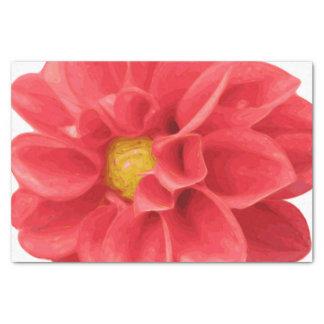Rosa Dahlie-Blumen-Seidenpapier Seidenpapier