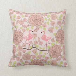 Rosa Dahlie, Flamingomuster Wurfskissen Kissen
