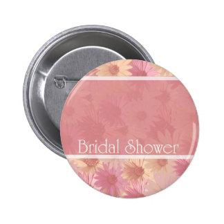 rosa Daises ~ Brautparty Runder Button 5,7 Cm