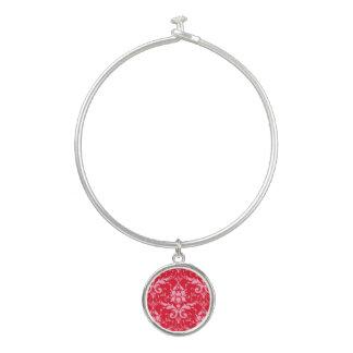 Rosa Damast-roter Armreif