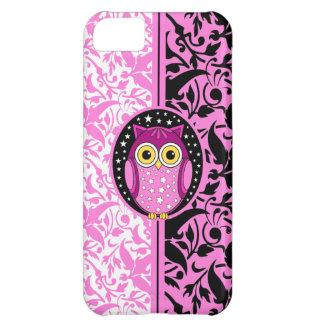 rosa Damast und Eule Hüllen Für iPhone 5C