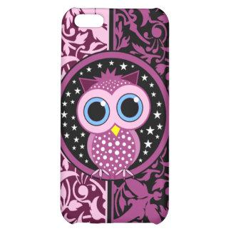 rosa Damast und Eule iPhone 5C Hüllen