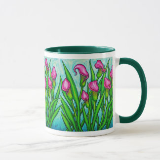 Rosa Damen - Calla-Lilien-Kaffee-Tasse Tasse