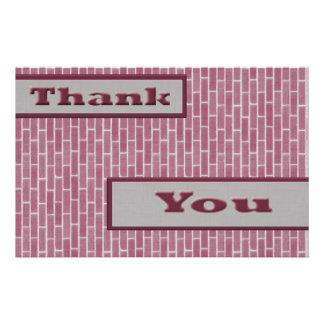 Rosa danken Ihnen 14 X 21,6 Cm Flyer