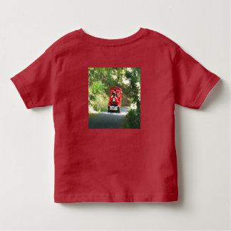 Rosa der Blitz-Shirt des Kindes und rote des Zugs Kleinkind T-shirt