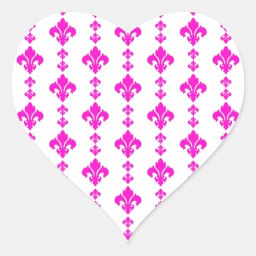 Rosa der Lilien-3 Herzaufkleber
