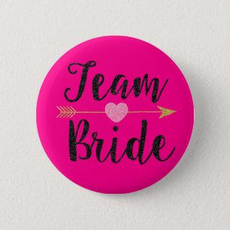 Rosa des Team-Bride|Hot Runder Button 5,1 Cm