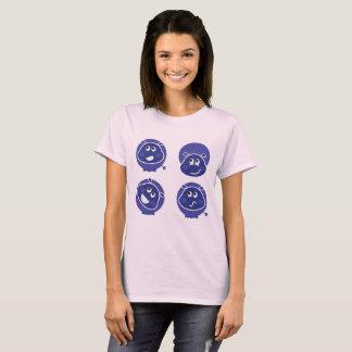 Rosa Designer-T - Shirt mit Rhinos