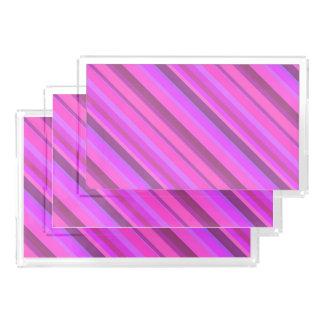 Rosa diagonale Streifen Acryl Tablett