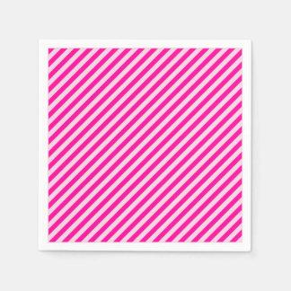 Rosa diagonale Streifen Servietten