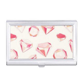 Rosa Diamant-geometrische Hand gezeichnet Visitenkarten Dose