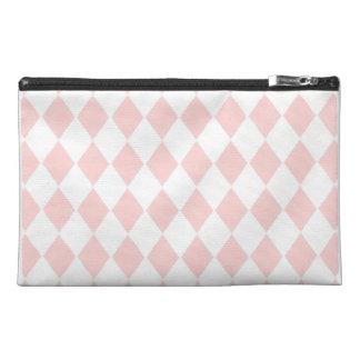 Rosa Diamant-Rauten-Reise-Zusatz-Tasche