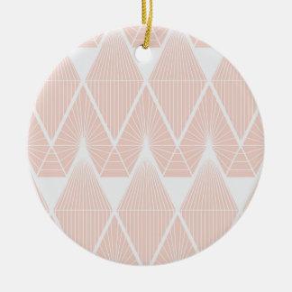 Rosa Diamanten Keramik Ornament