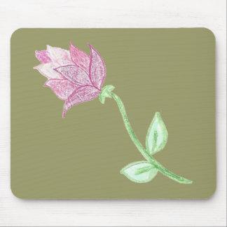 Rosa Distel-Blumen-Motiv Mousepad