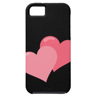 Rosa Doppelherzen iPhone 5 Cover