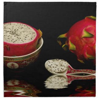 Rosa Drache-Frucht Serviette