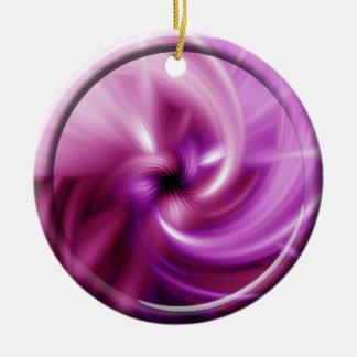 Rosa Drehung Keramik Ornament