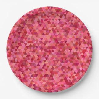 Rosa Mosaik Teller