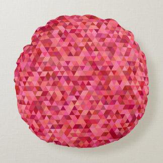 Rosa Dreiecke Rundes Kissen