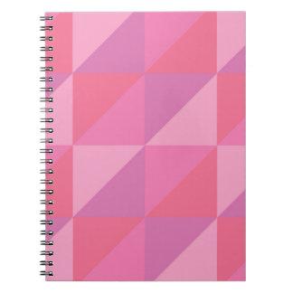 Rosa Dreiecke Spiral Notizblock