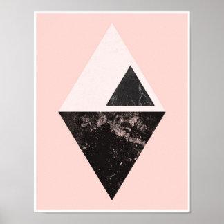 Rosa Dreieckplakatdruck Poster