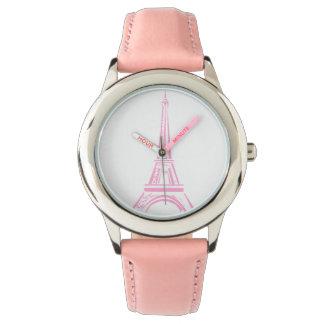 Rosa Eiffelturm-Uhr Paris Uhr
