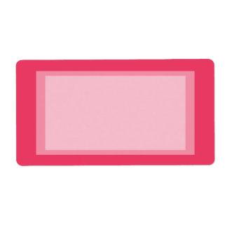 rosa einfaches versand aufkleber