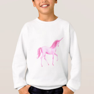 Rosa Einhorn des Aquarells Sweatshirt
