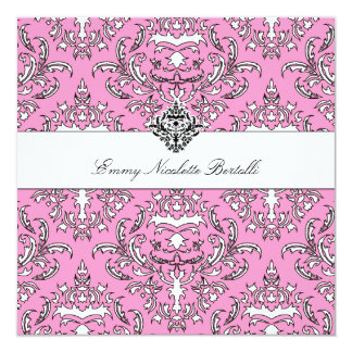 rosa Einladung des Damast-311-Emmy